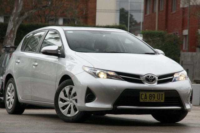 Used Toyota Corolla ZRE182R Ascent, 2014 Toyota Corolla ZRE182R Ascent Silver Pearl 6 Speed Manual Hatchback