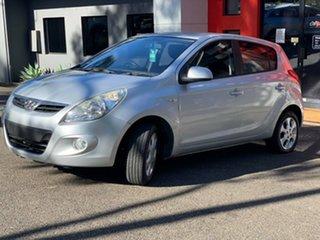 2011 Hyundai i20 PB MY11 Elite Metallic Silver 4 Speed Automatic Hatchback.