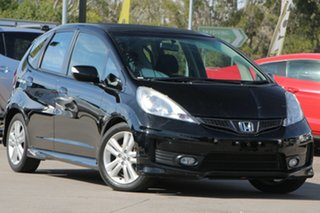 2012 Honda Jazz GE MY12 Vibe-S Black 5 Speed Automatic Hatchback.