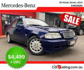1999 Mercedes-Benz C-Class W202 C180 Classic Blue 5 Speed Automatic Sedan.
