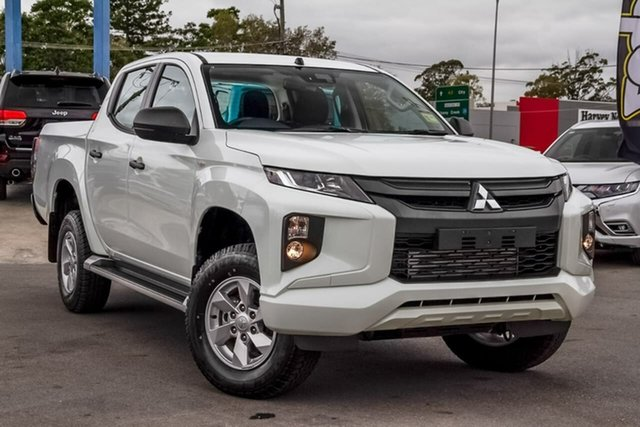 Used Mitsubishi Triton MR MY19 GLX+ Double Cab, 2019 Mitsubishi Triton MR MY19 GLX+ Double Cab White 6 Speed Manual Utility