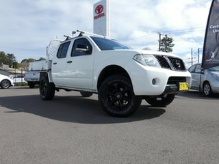 2013 Nissan Navara D40 S6 MY12 ST-X King Cab White 5 Speed Automatic Utility