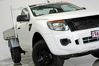 2012 Ford Ranger PX XL 2.2 Hi-Rider (4x2) White 6 Speed Automatic Cab Chassis.