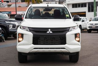2019 Mitsubishi Triton MR MY20 GLX+ Double Cab White 6 Speed Manual Utility