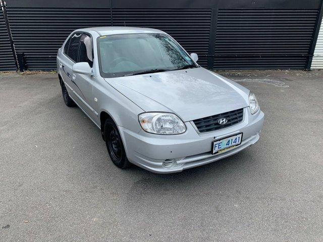 Used Hyundai Accent LC MY04 GL, 2005 Hyundai Accent LC MY04 GL Clean Silver 5 Speed Manual Hatchback