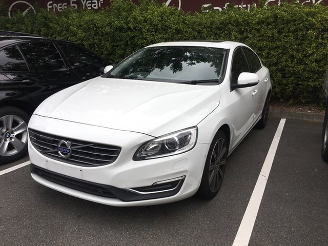 Used Volvo S60 F Series MY16 T5 Adap Geartronic Luxury, 2016 Volvo S60 F Series MY16 T5 Adap Geartronic Luxury White 8 Speed Sports Automatic Sedan