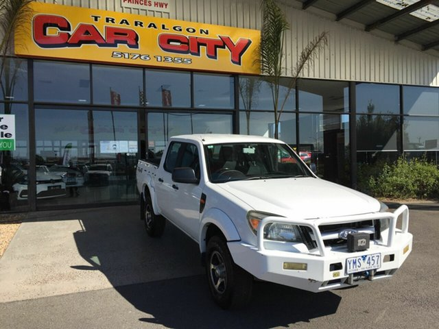 Used Ford Ranger PK XL (4x4), 2010 Ford Ranger PK XL (4x4) White 5 Speed Manual Dual Cab Chassis