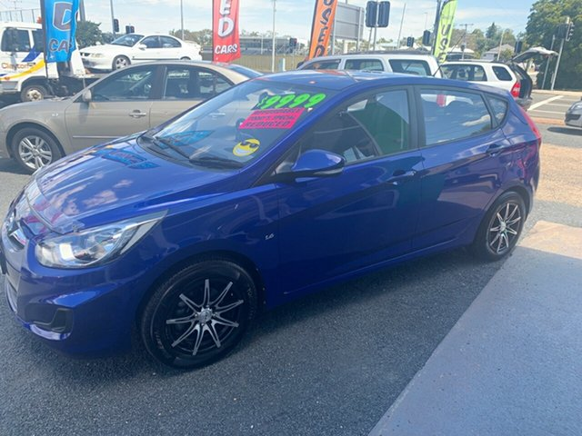 Used Hyundai Accent  , 2012 Hyundai Accent Blue 5 Speed Manual Hatchback