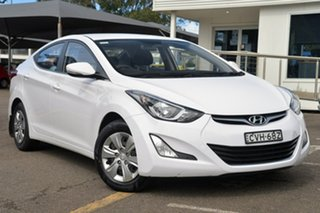 2014 Hyundai Elantra MD3 Active White 6 Speed Sports Automatic Sedan