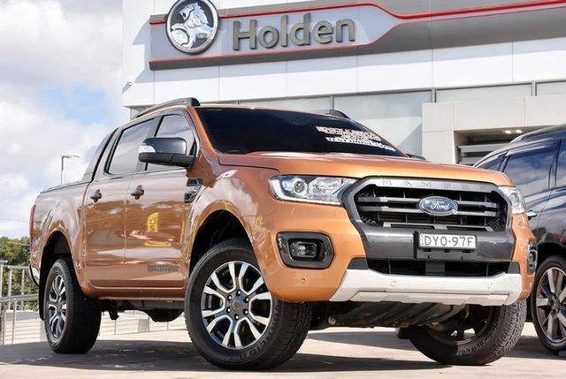 Used Ford Ranger PX MkIII 2019.00MY Wildtrak, 2018 Ford Ranger PX MkIII 2019.00MY Wildtrak Pride Orange 6 Speed Sports Automatic Utility