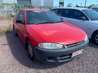 2003 Mitsubishi Mirage CE MY2002 Red 5 Speed Manual Hatchback.