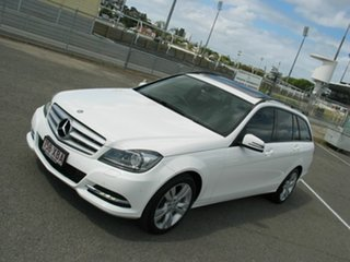 2013 Mercedes-Benz C200 W204 MY13 BE White 7 Speed Automatic G-Tronic Wagon