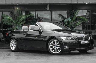 2008 BMW 3 Series E93 MY08 325i Steptronic Black 6 Speed Sports Automatic Convertible.