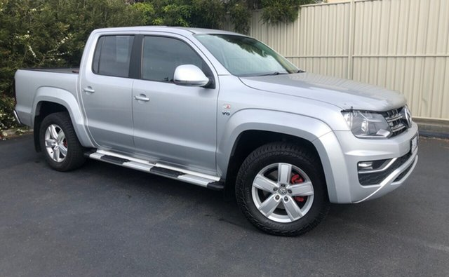 Used Volkswagen Amarok 2H MY18 TDI550 4MOTION Perm Sportline, 2018 Volkswagen Amarok 2H MY18 TDI550 4MOTION Perm Sportline Silver 8 Speed Automatic Utility