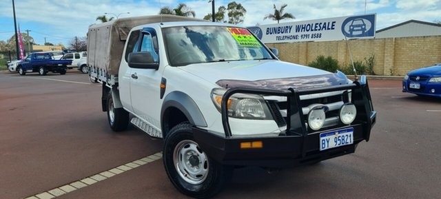 Used Ford Ranger PK XL Hi-Rider East Bunbury, 2010 Ford Ranger PK XL Hi-Rider White 5 Speed Manual