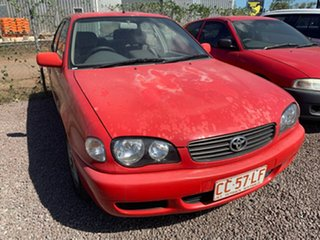 2000 Toyota Corolla Red 5 Speed Manual Hatchback.