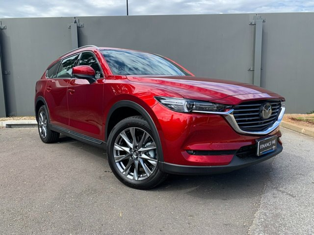 Demo Mazda CX-8 KG4W2A Asaki SKYACTIV-Drive i-ACTIV AWD Hindmarsh, 2020 Mazda CX-8 KG4W2A Asaki SKYACTIV-Drive i-ACTIV AWD Soul Red Crystal 6 Speed Sports Automatic