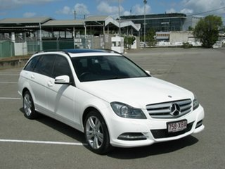 2013 Mercedes-Benz C200 W204 MY13 BE White 7 Speed Automatic G-Tronic Wagon.