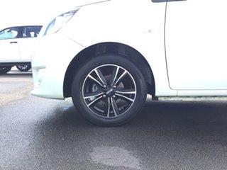 2014 Mitsubishi Mirage LA MY14 ES White 5 Speed Manual Hatchback