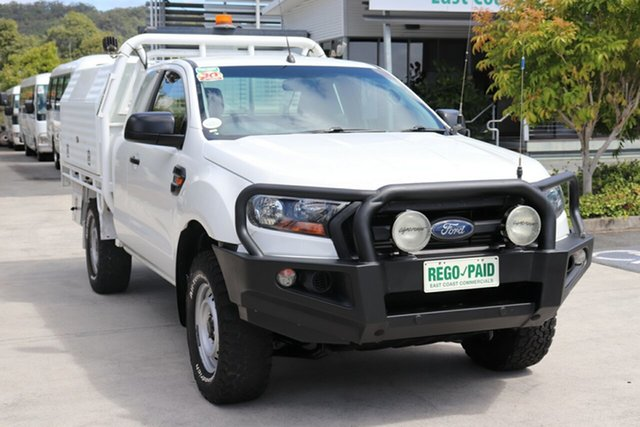 Used Ford Ranger PX MkII XL, 2016 Ford Ranger PX MkII XL Cool White 6 speed Manual Cab Chassis