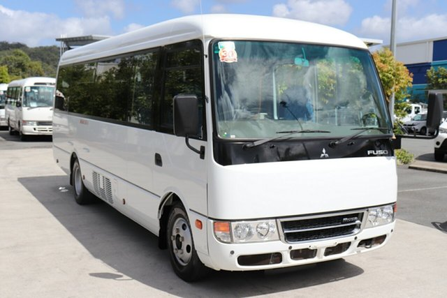 Used Mitsubishi Rosa BE64D Deluxe Robina, 2018 Mitsubishi Rosa BE64D Deluxe White Automatic Midi Coach