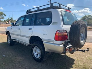 2000 Toyota Landcruiser FZJ105R GXL White 4 Speed Automatic Wagon