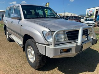 1999 Toyota Landcruiser FZJ105R GXL Silver 5 Speed Manual Wagon
