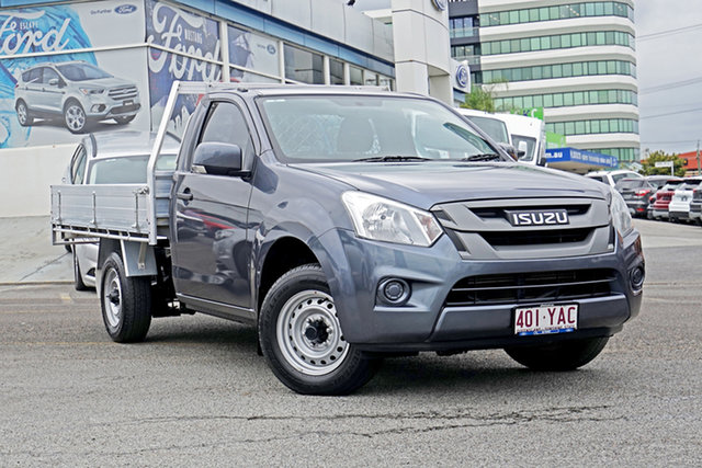 Used Isuzu D-MAX MY17 SX 4x2, 2018 Isuzu D-MAX MY17 SX 4x2 Grey 6 Speed Manual Cab Chassis