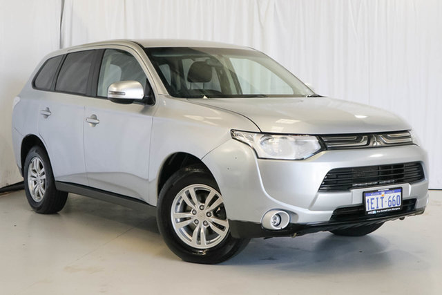 Used Mitsubishi Outlander ZJ MY13 LS 4WD, 2013 Mitsubishi Outlander ZJ MY13 LS 4WD Silver 6 Speed Constant Variable Wagon