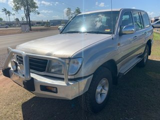 1999 Toyota Landcruiser FZJ105R GXL Silver 5 Speed Manual Wagon.