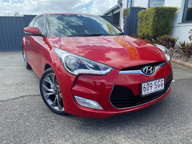 Used Hyundai Veloster FS2 Coupe D-CT, 2012 Hyundai Veloster FS2 Coupe D-CT Red 6 Speed Sports Automatic Dual Clutch Hatchback