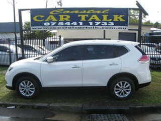 2014 Nissan X-Trail T32 ST (FWD) White Continuous Variable Wagon.