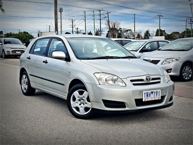 Used Toyota Corolla ZZE122R 5Y Ascent, 2005 Toyota Corolla ZZE122R 5Y Ascent Silver Automatic Hatchback