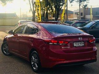 2016 Hyundai Elantra AD MY17 Active Red 6 Speed Manual Sedan.