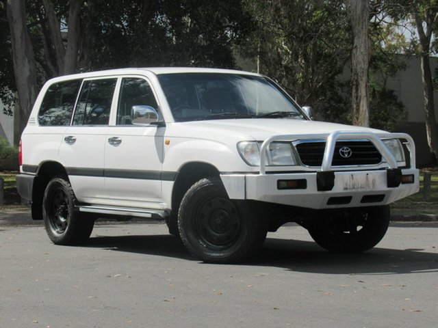Used Toyota Landcruiser HZJ105R GXL, 2000 Toyota Landcruiser HZJ105R GXL White 4 Speed Automatic Wagon