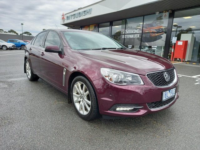Used Holden Commodore VF MY14 International, 2013 Holden Commodore VF MY14 International Maroon/blk 6 Speed Sports Automatic Sedan