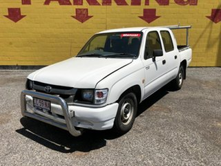 2002 Toyota Hilux White 5 Speed Manual Dual Cab