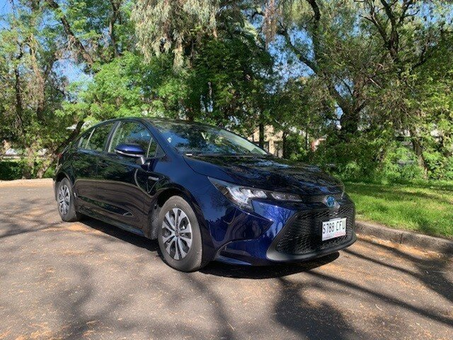 Demo Toyota Corolla ZWE211R Ascent Sport E-CVT Hybrid, 2019 Toyota Corolla ZWE211R Ascent Sport E-CVT Hybrid Saturn Blue 10 Speed Constant Variable Sedan