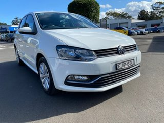 2015 Volkswagen Polo 6R MY15 81TSI Comfortline White 6 Speed Manual Hatchback.