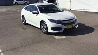 2017 Honda Civic 10th Gen MY16 VTi White 1 Speed Constant Variable Sedan.