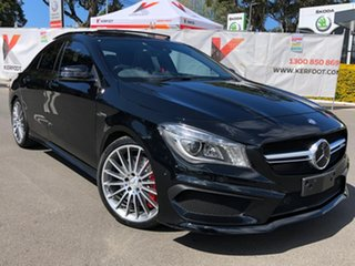 2014 Mercedes-Benz CLA-Class C117 805+055MY CLA45 AMG SPEEDSHIFT DCT 4MATIC Black 7 Speed.