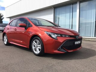 2018 Toyota Corolla ZWE211R SX E-CVT Hybrid Red 10 Speed Constant Variable Hatchback Hybrid.