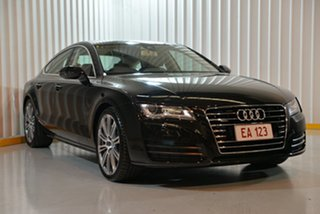 2011 Audi A7 4G Sportback S Tronic Quattro Black 7 Speed Sports Automatic Dual Clutch Hatchback