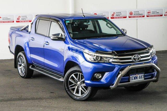Used Toyota Hilux GUN126R SR5 (4x4), 2015 Toyota Hilux GUN126R SR5 (4x4) Nebula Blue 6 Speed Automatic Dual Cab Utility