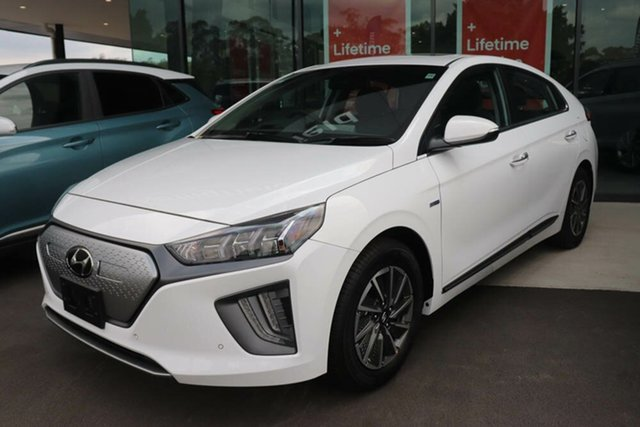 New Hyundai Ioniq AE.3 MY20 electric Premium Mount Gravatt, 2020 Hyundai Ioniq AE.3 MY20 electric Premium Polar White 1 Speed Reduction Gear Fastback