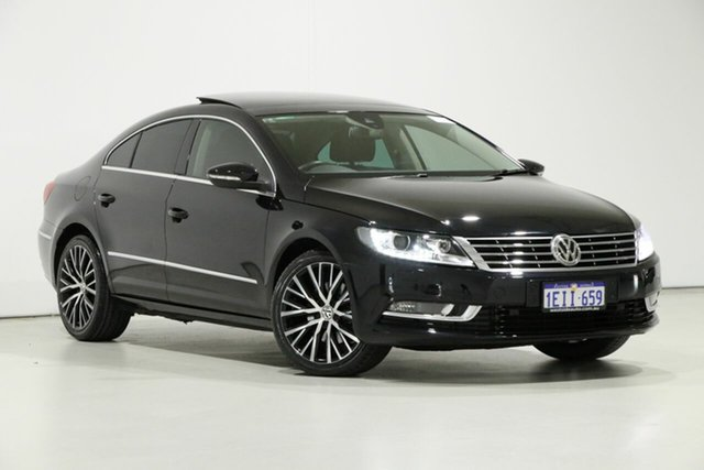 Used Volkswagen CC 3C MY13.5 130 TDI, 2013 Volkswagen CC 3C MY13.5 130 TDI Black 6 Speed Direct Shift Coupe