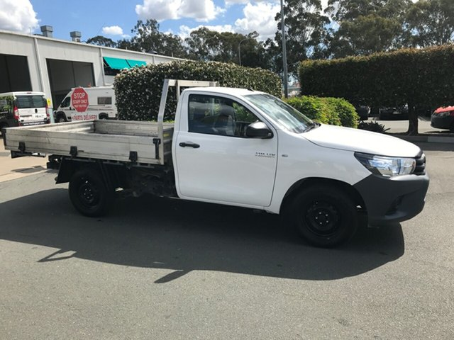 Used Toyota Hilux GUN122R Workmate 4x2, 2016 Toyota Hilux GUN122R Workmate 4x2 White 5 speed Manual Cab Chassis