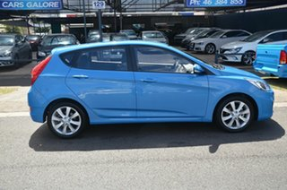 2019 Hyundai Accent RB6 MY19 Sport Blue 6 Speed Automatic Hatchback.