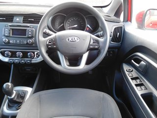 2013 Kia Rio UB MY13 S Red 6 Speed Manual Hatchback