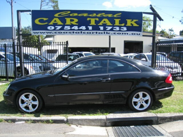 Used Mercedes-Benz CLK240 C209 Elegance, 2003 Mercedes-Benz CLK240 C209 Elegance Black 5 Speed Auto Touchshift Coupe